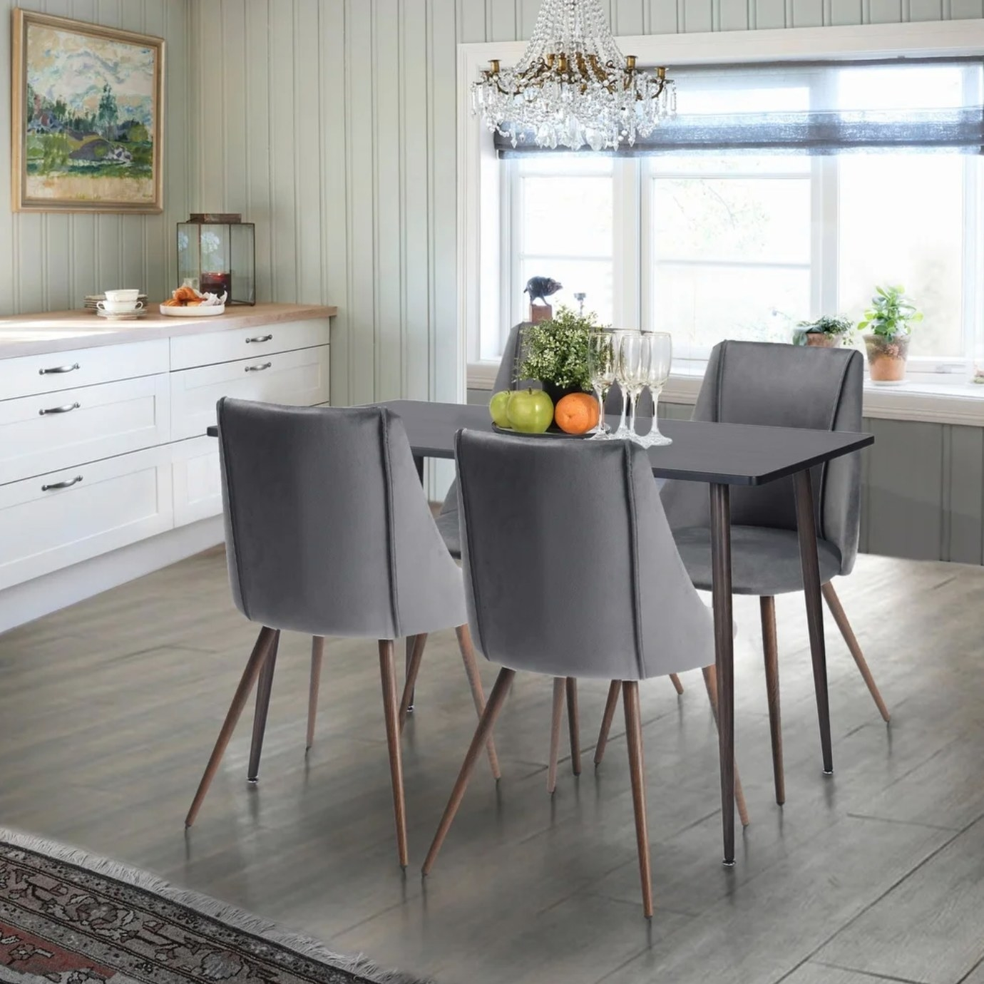 The gray dining set