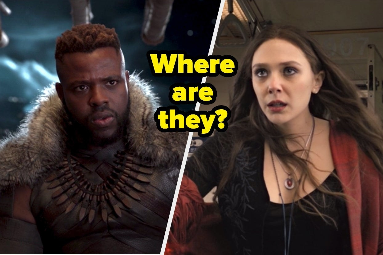 "M'Baku and Wanda with text, ""Where are they?"""