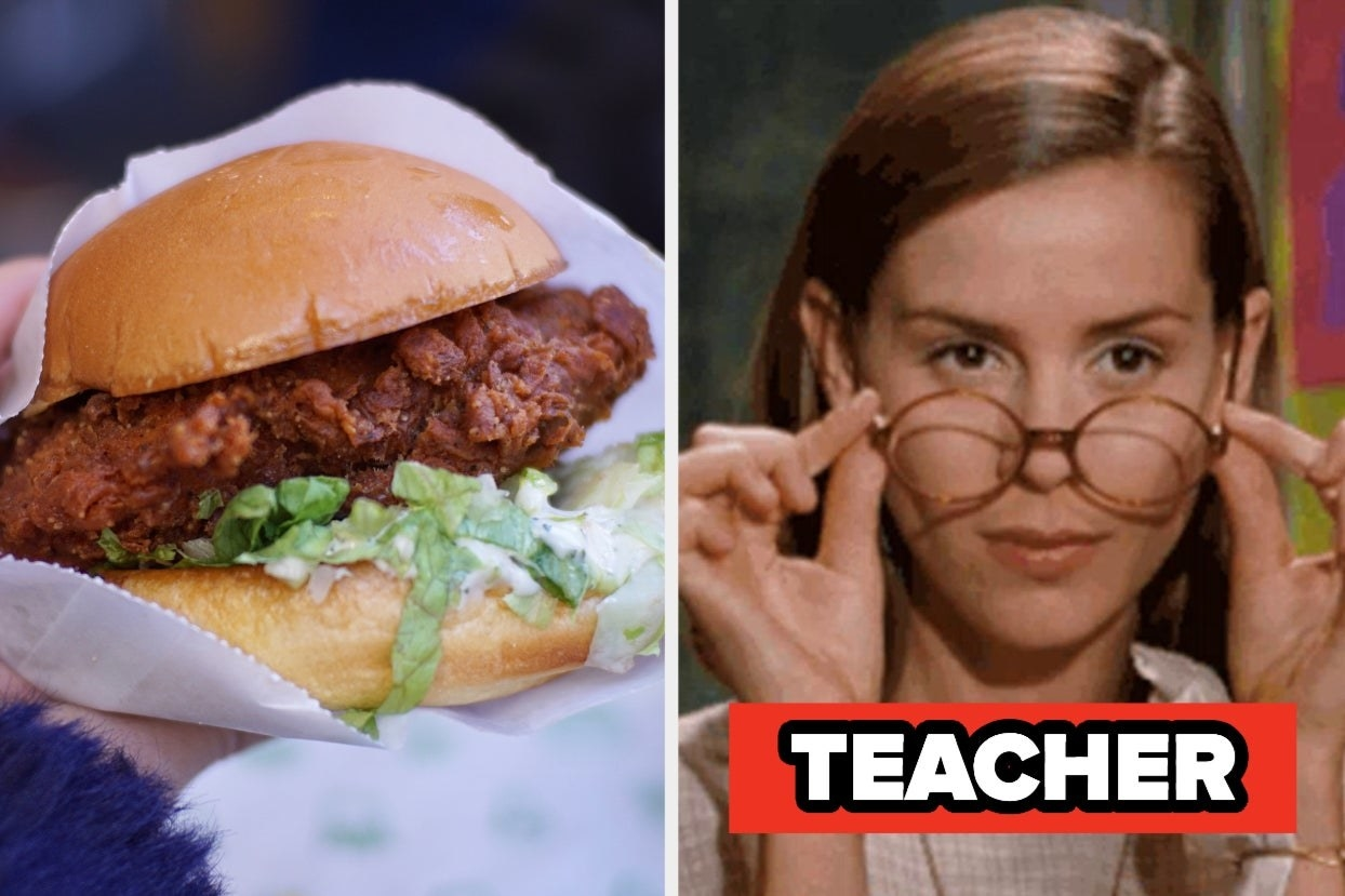 "Chicken sandwich and Miss Honey with the words ""Teacher"""