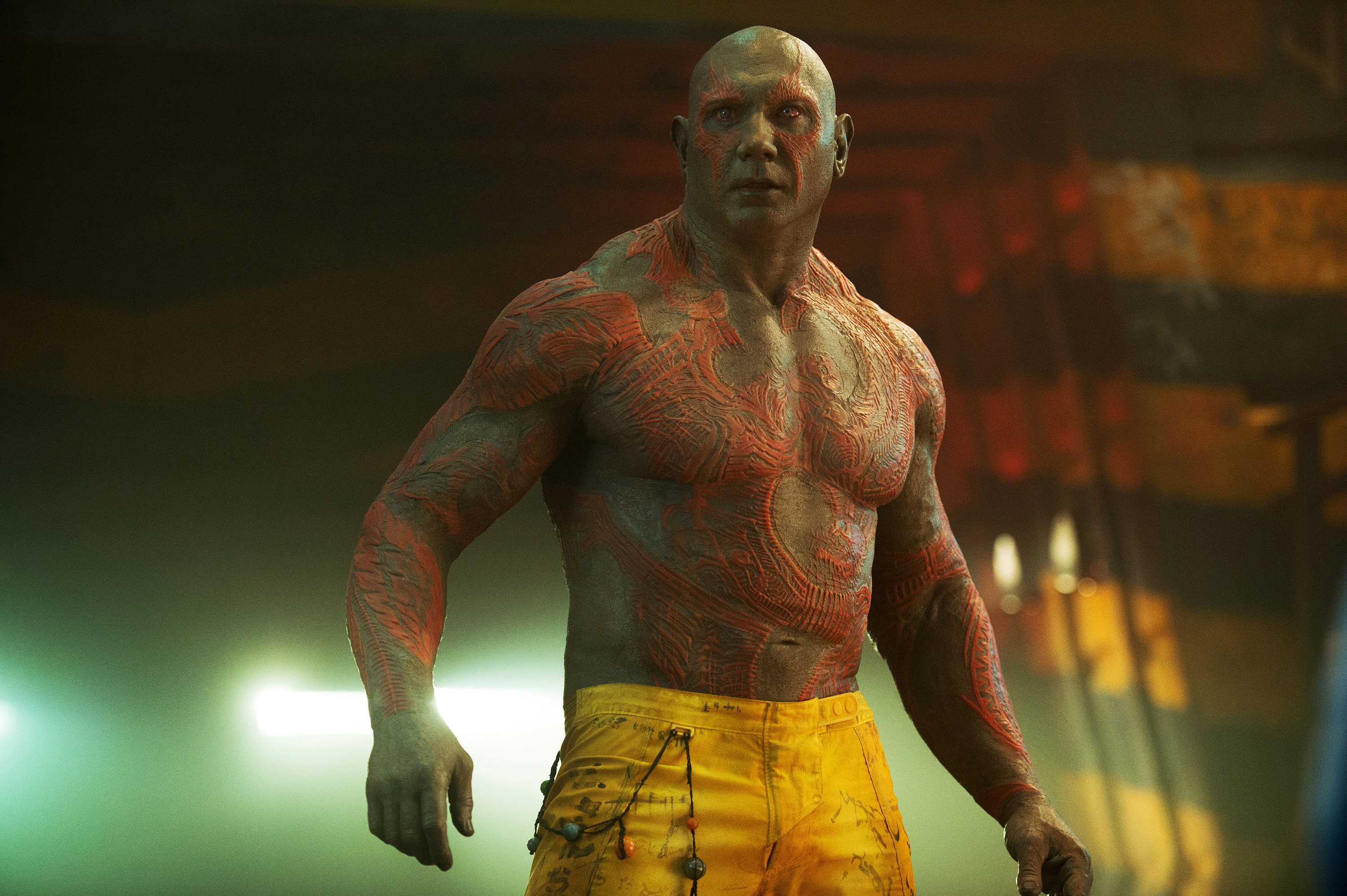 Bautista as Drax in the film
