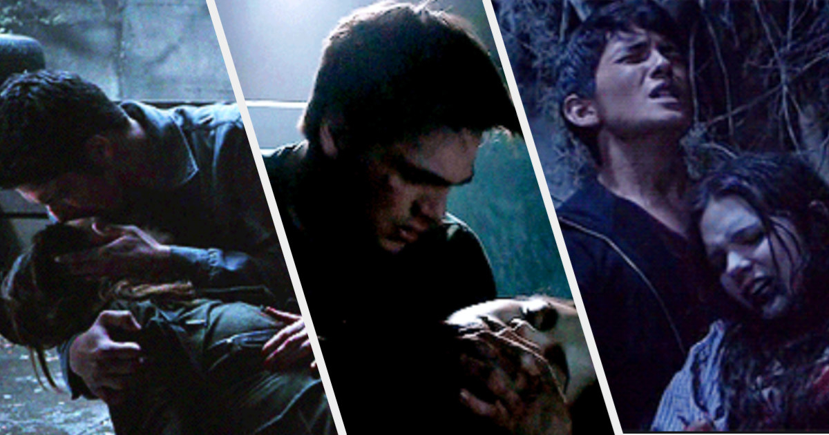 Allison dying in Scott's arms, Hayden dying in Liam's arms, and Paige dying in Derek's arms
