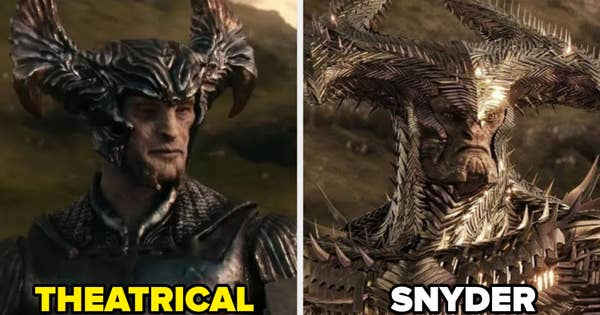 Snyder's version of Steppenwolf is more menacing and alien-like