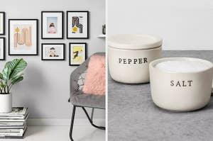 frames, salt and pepper holders