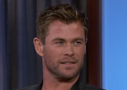 Chris Hemsworth during a late-night interview