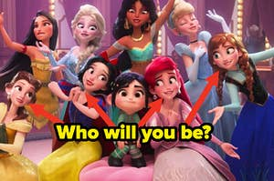 "The movie ""Ralph Breaks the Internet"" shows an array of Disney princess from both the older and newer movies."