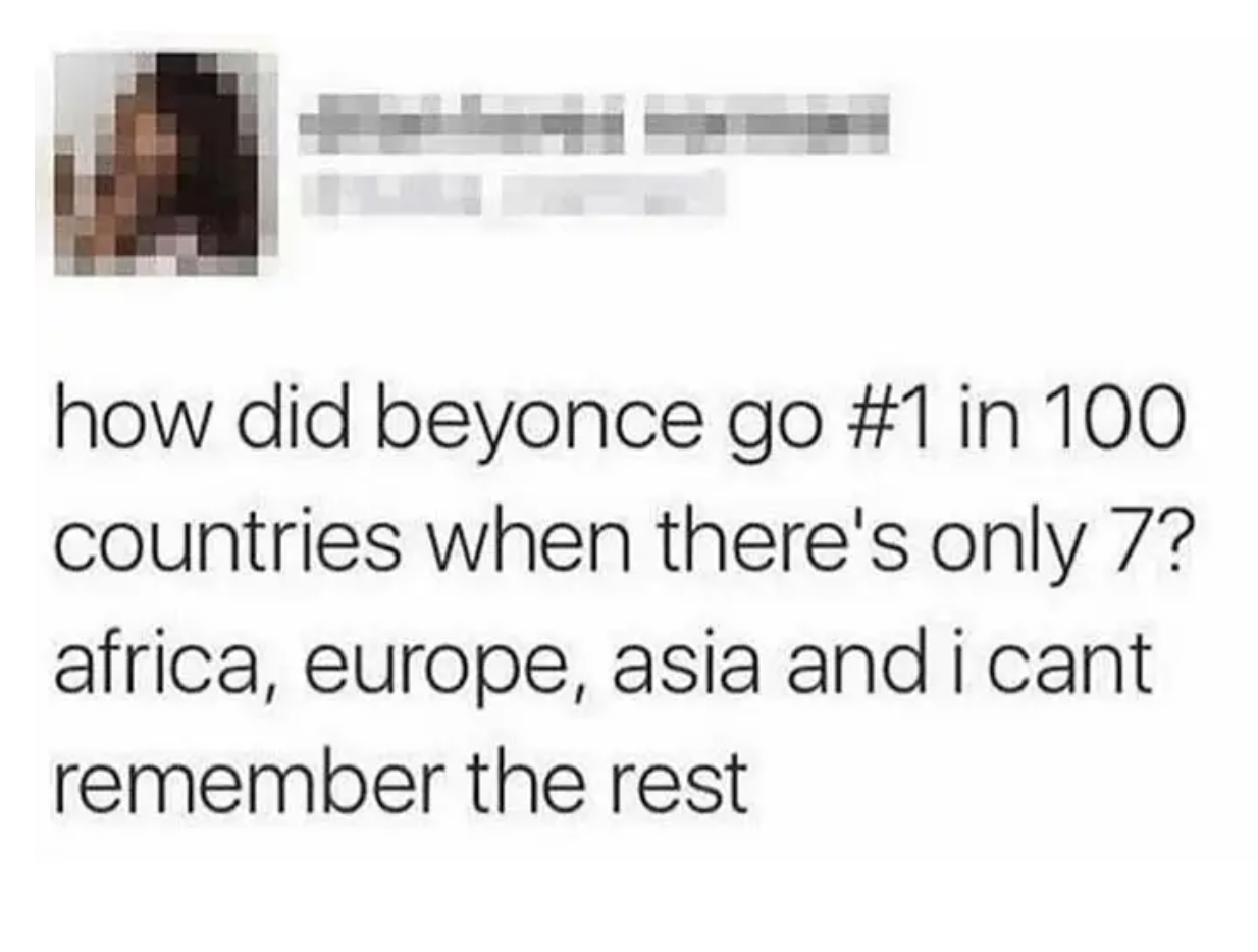 person who says there are only 7 countries
