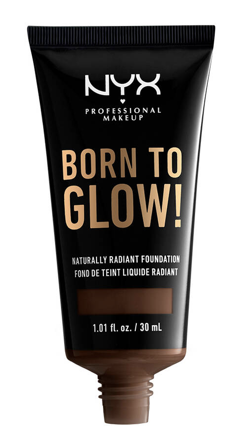 A bottle of NYX Born to Glow Foundation