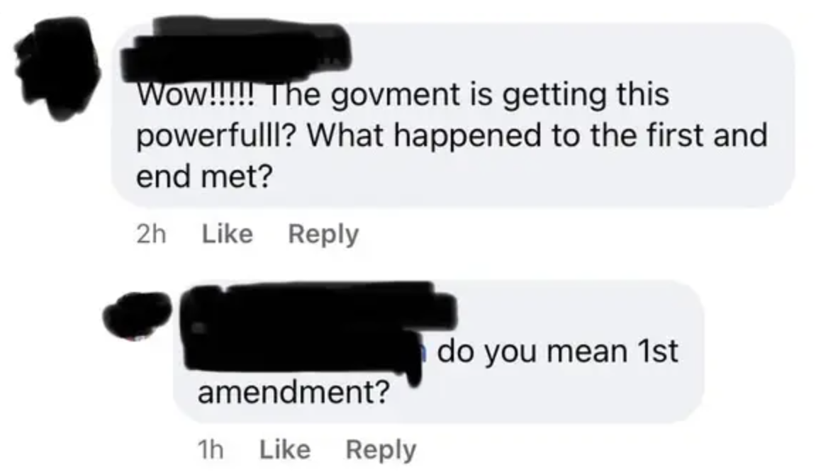 person who called an amendment a and end met