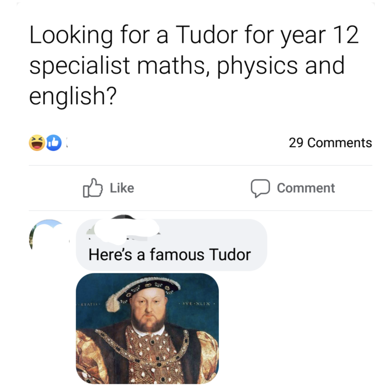 person who mispells tutor as tudor