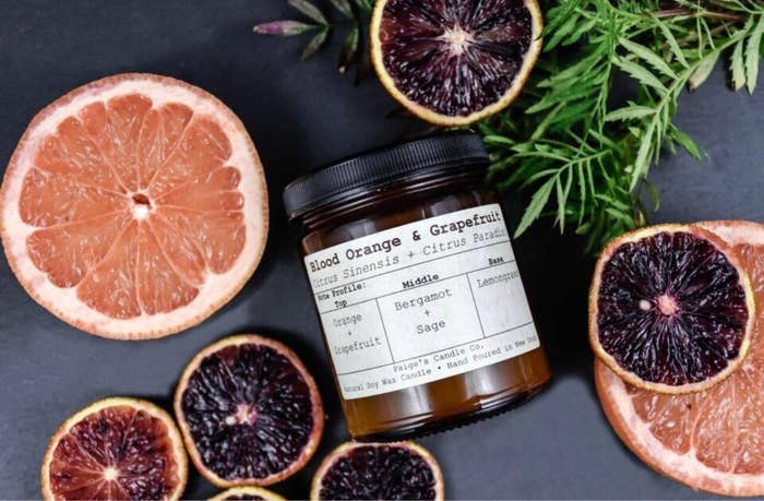 the blood orange and grapefruit candle
