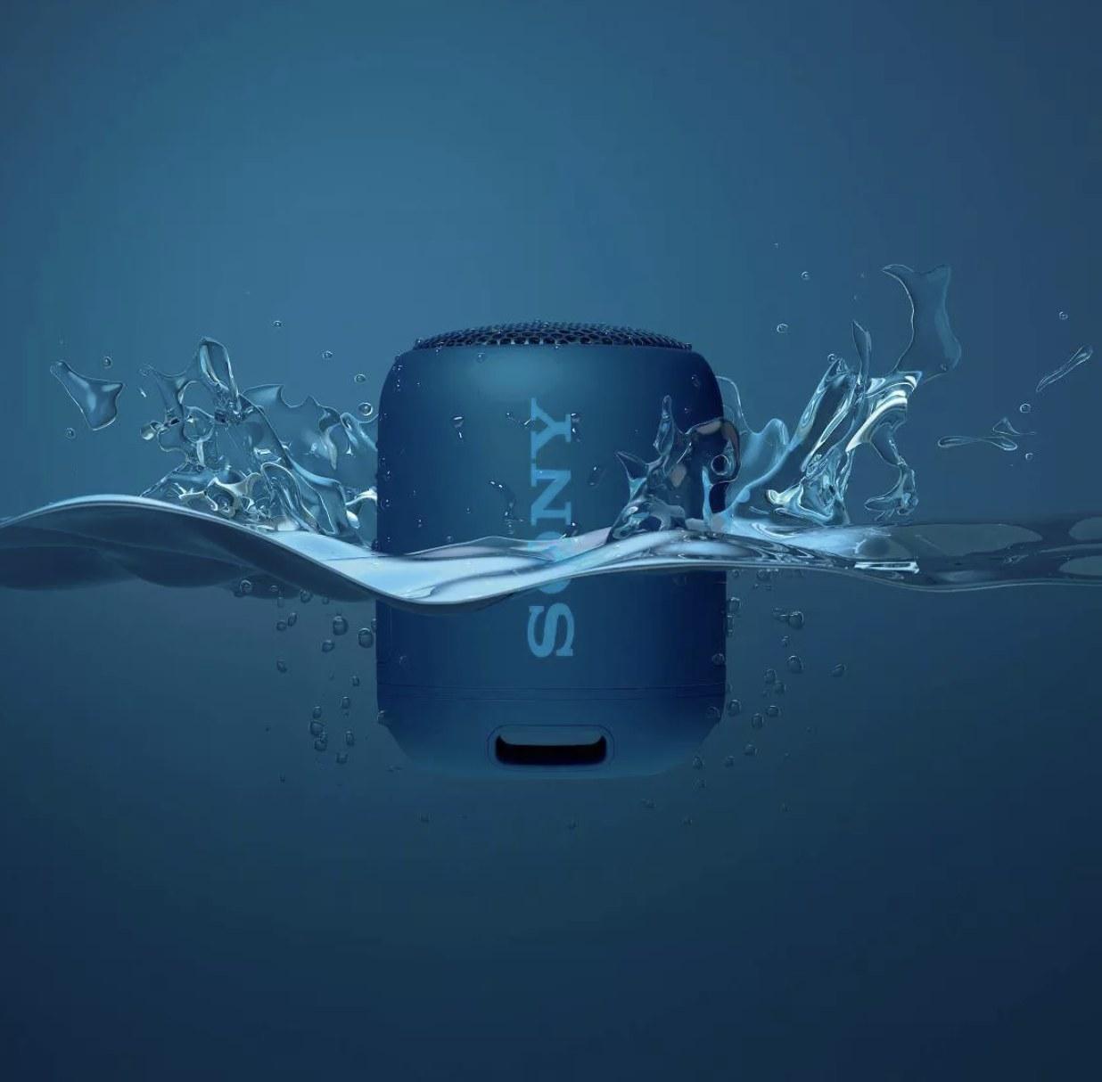 The blue speaker