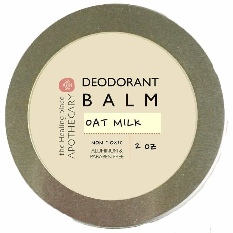 two ounce round container of deodorant balm