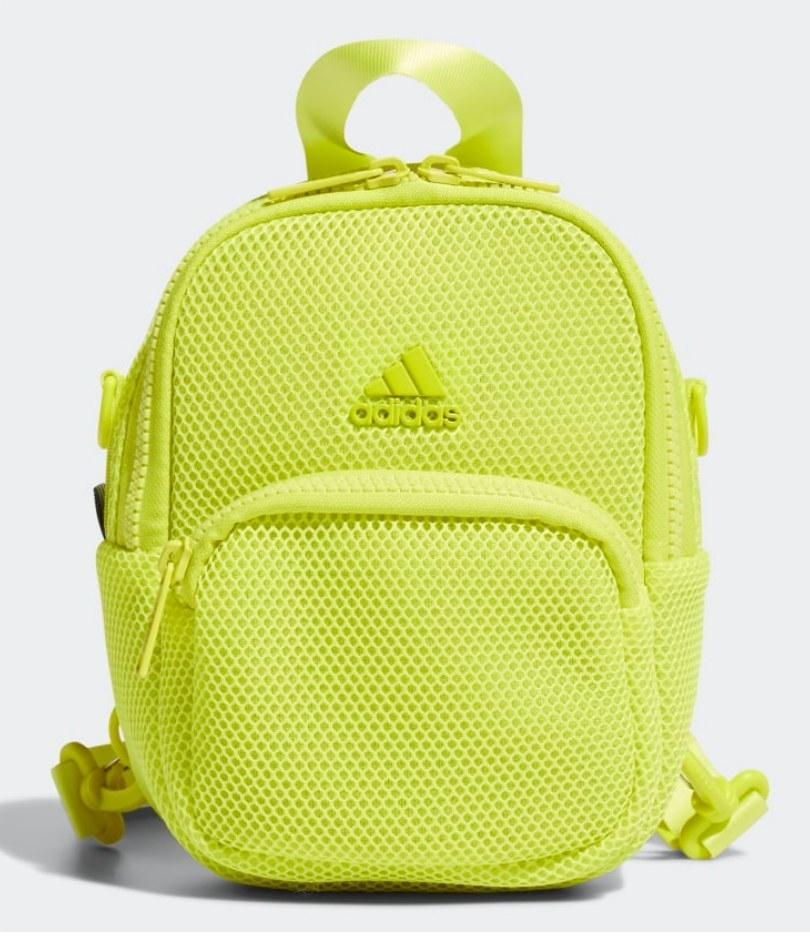 Yellow mesh mini backpack