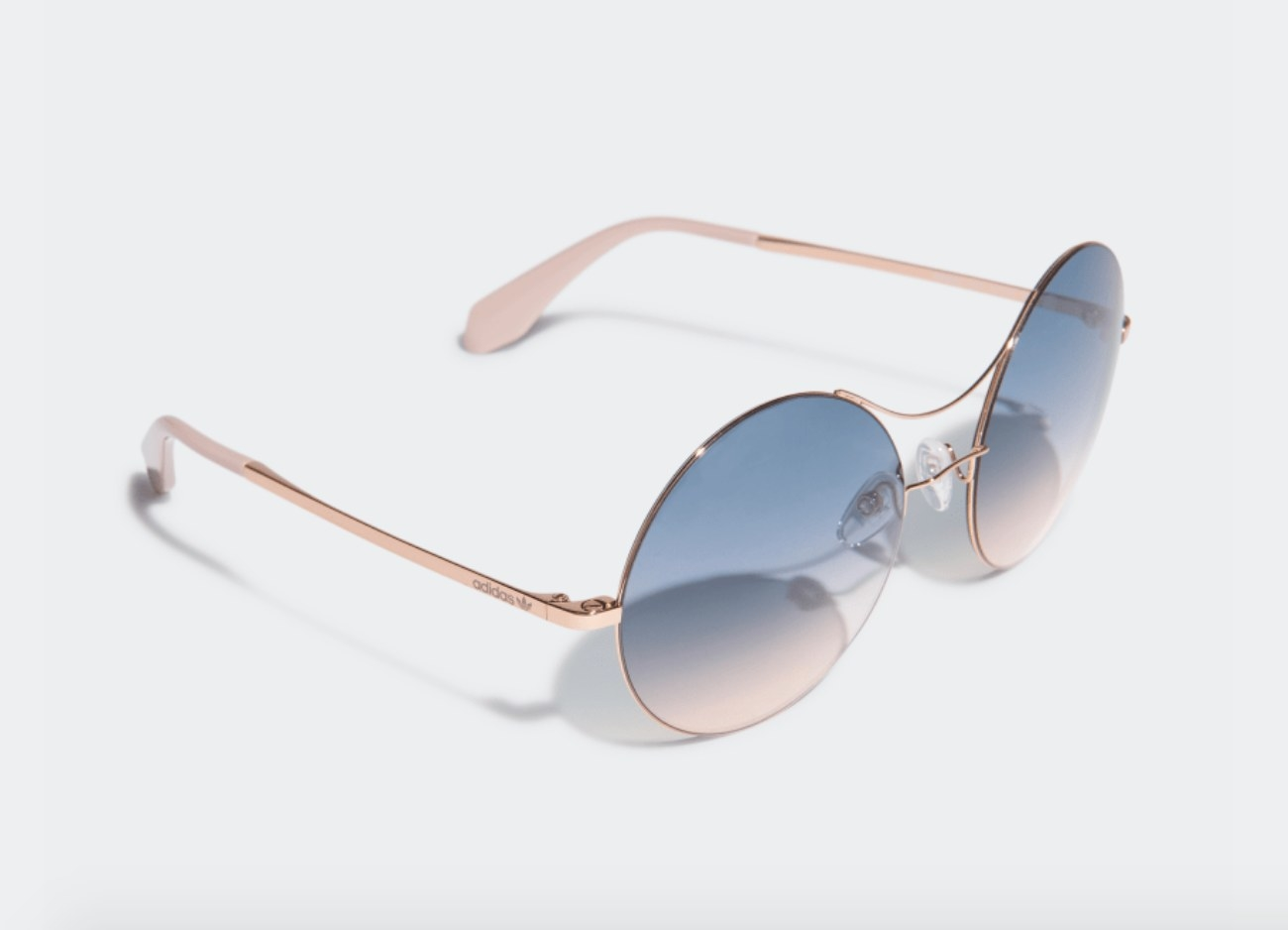 Rosegold sunglasses with blue lens