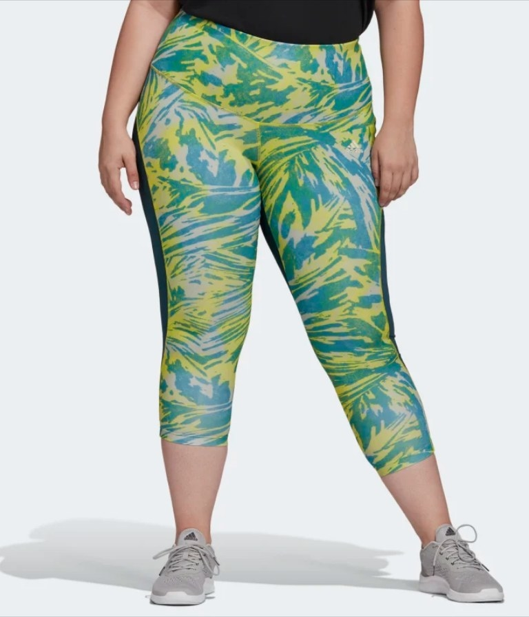 Yellow and blue patterned leggings