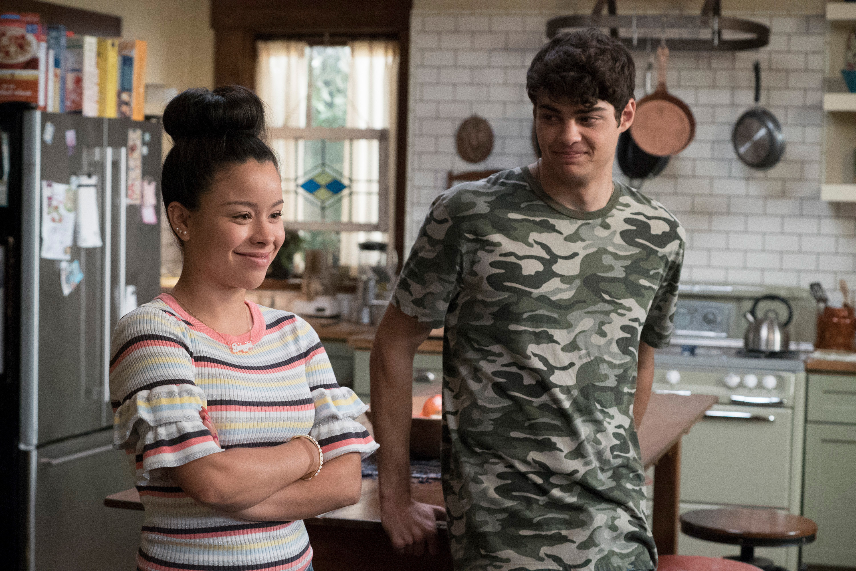 Noah playing Jesus next to Mariana in The Fosters