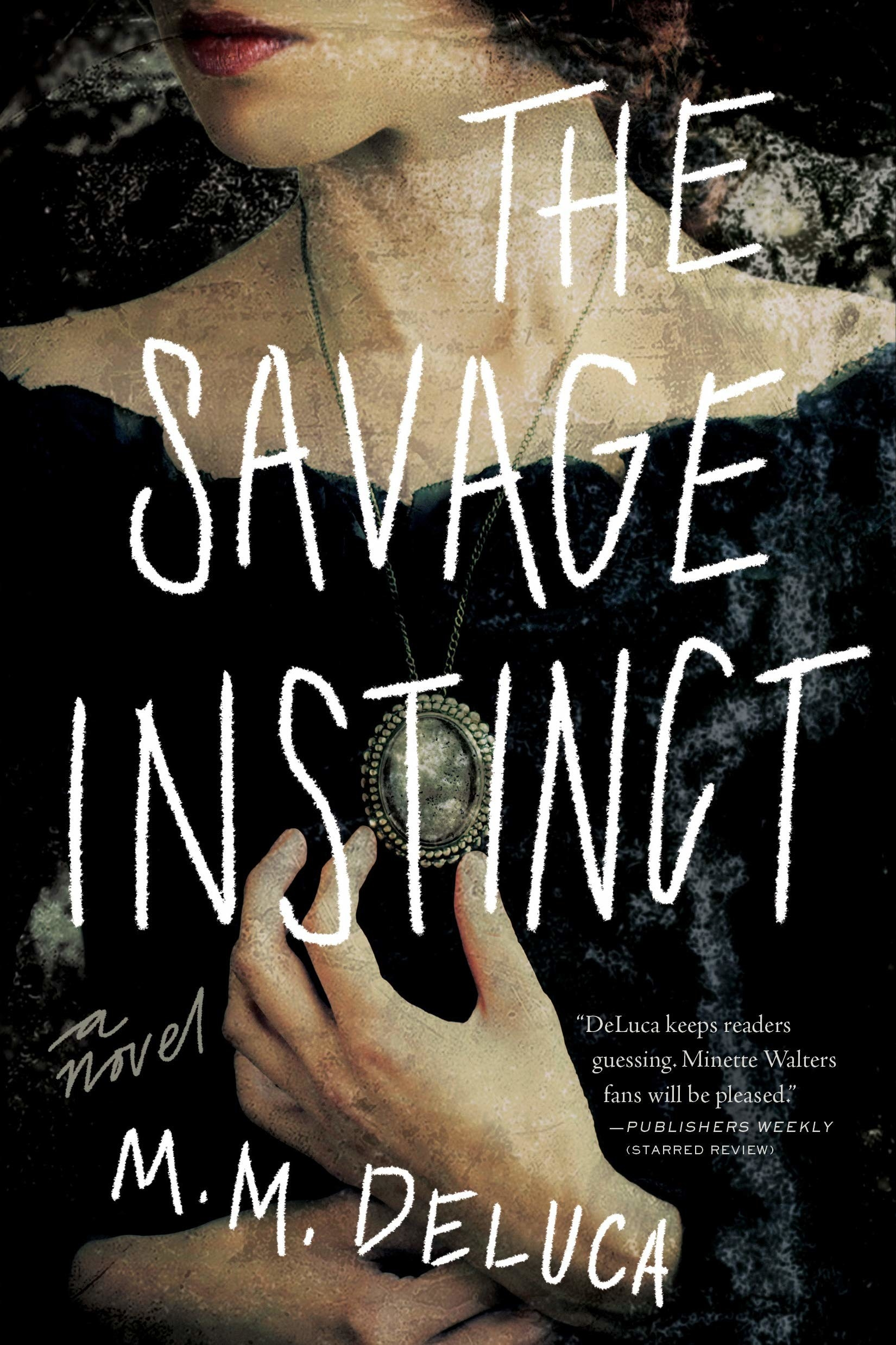 """cover of """"The Savage Instinct"""" with a painting of lady"""