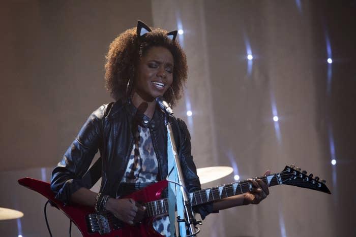 Josie performing onstage in Riverdale