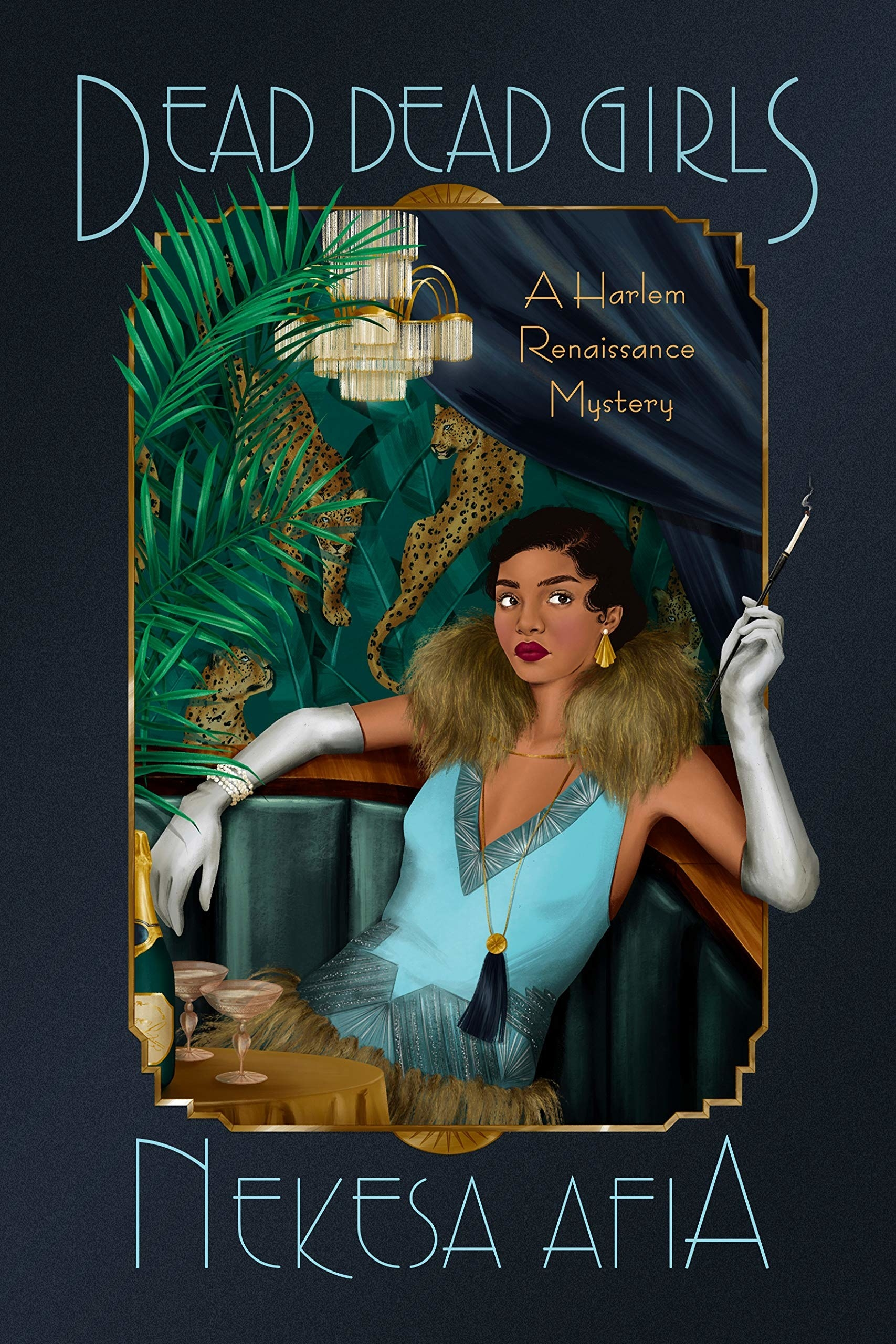the book cover with a woman in '20s Flapper-inspired dress