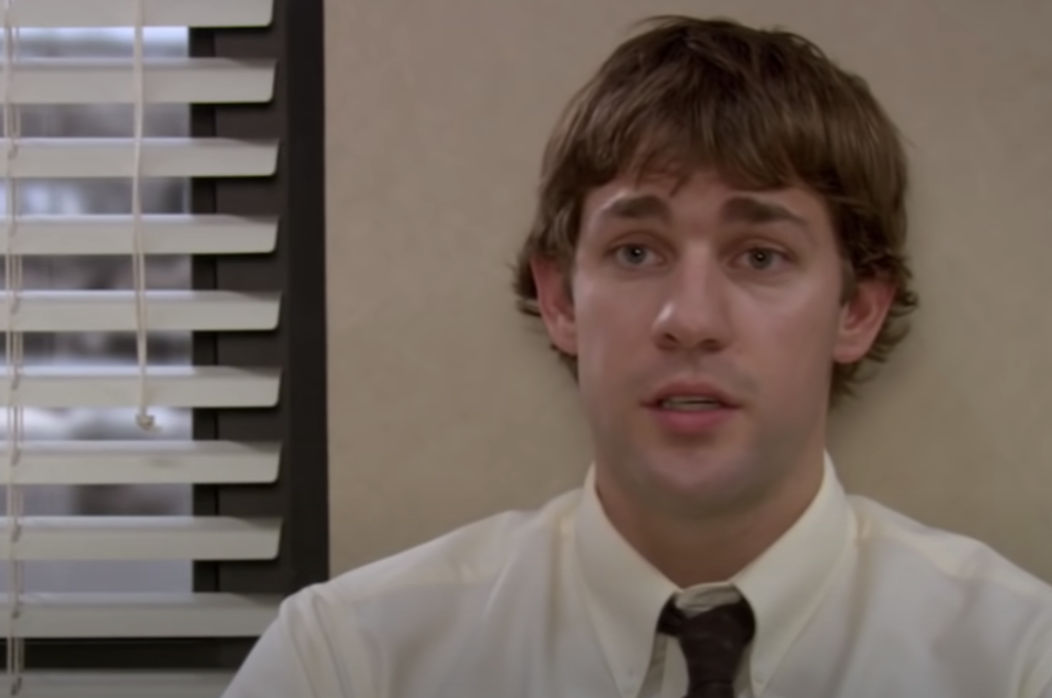 Jim being interviewed in The Office