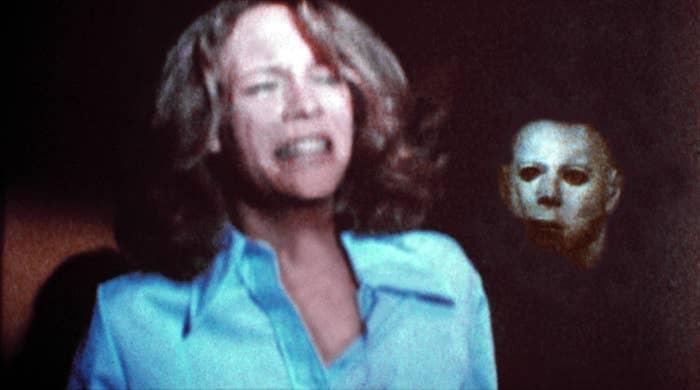 Michael stalking Laurie in the original Halloween