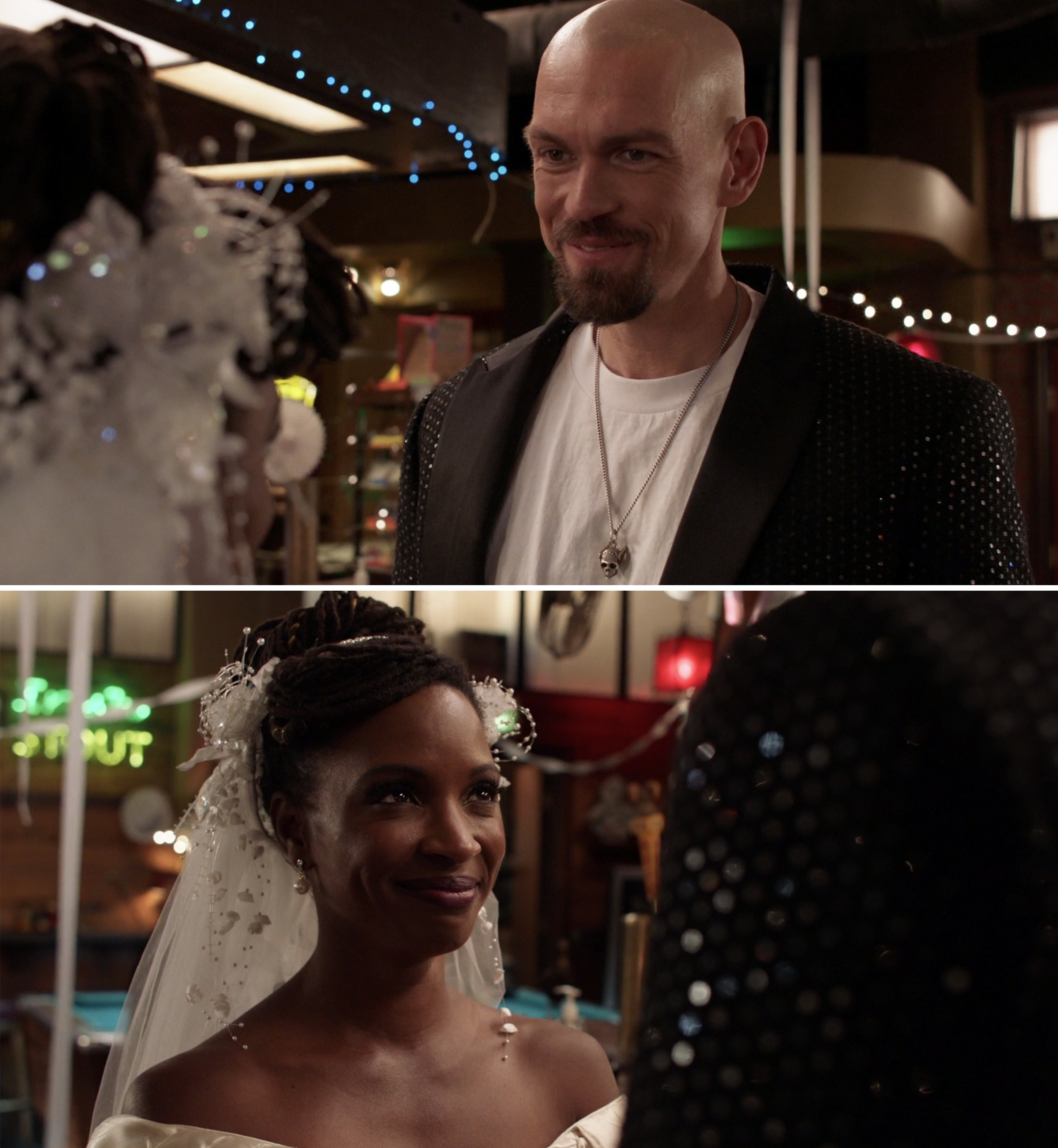 Kevin and Veronica on their wedding day