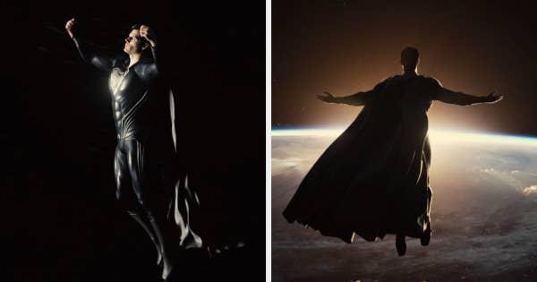Superman levitating