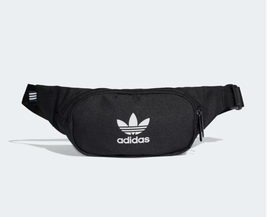 Black fanny pack with Adidas logo