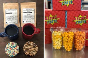 a match made coffee subscription, and a kernel crate subscription