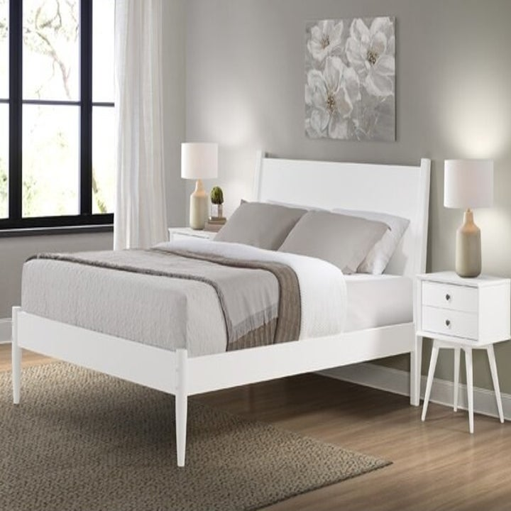 the bed in white