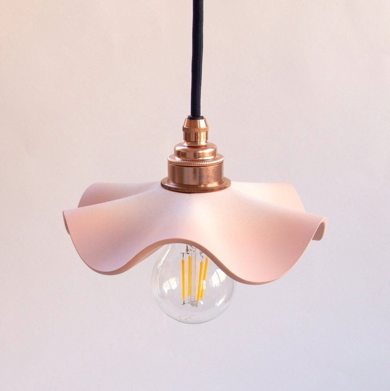 the pink sculptural lampshade