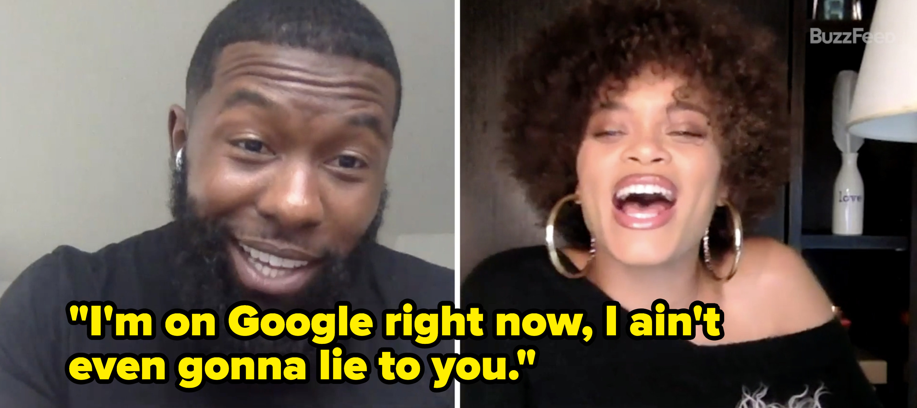 "Trevante says, ""I'm on Google right now, I ain't even gonna lie to you"""