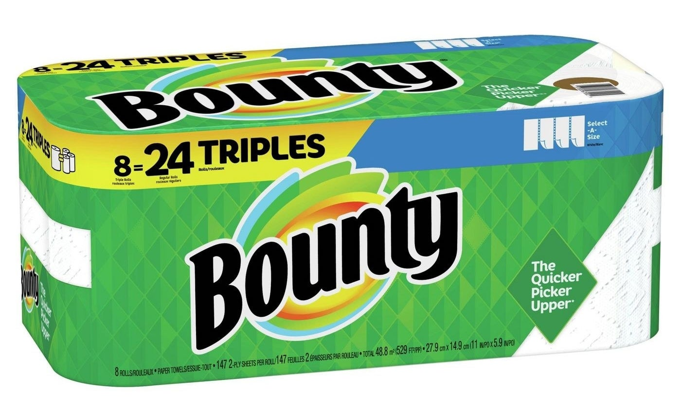 A pack of paper towels