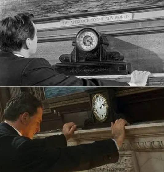 Gambar diam identik dari A Night To Remember dan Titanic