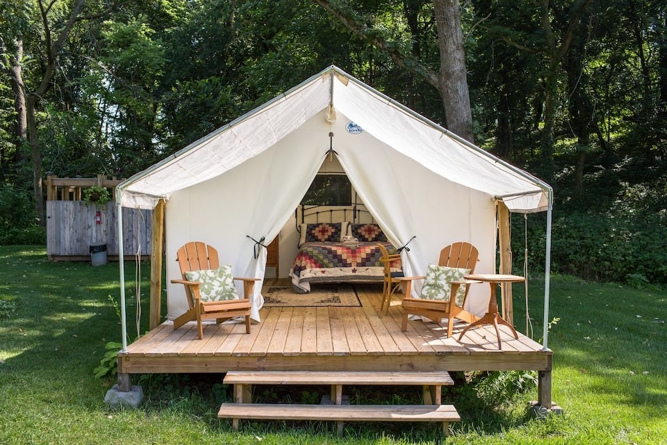 the glamping tent