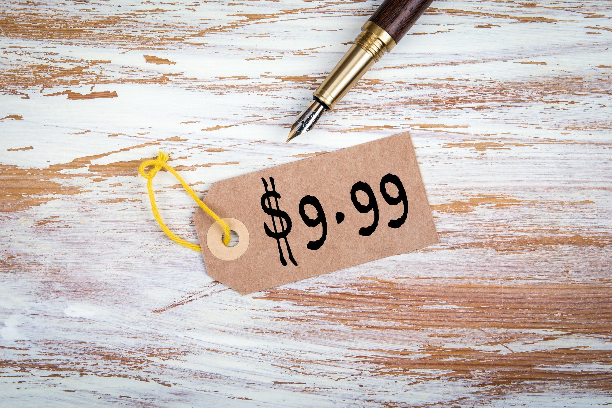 $9.99 price tag