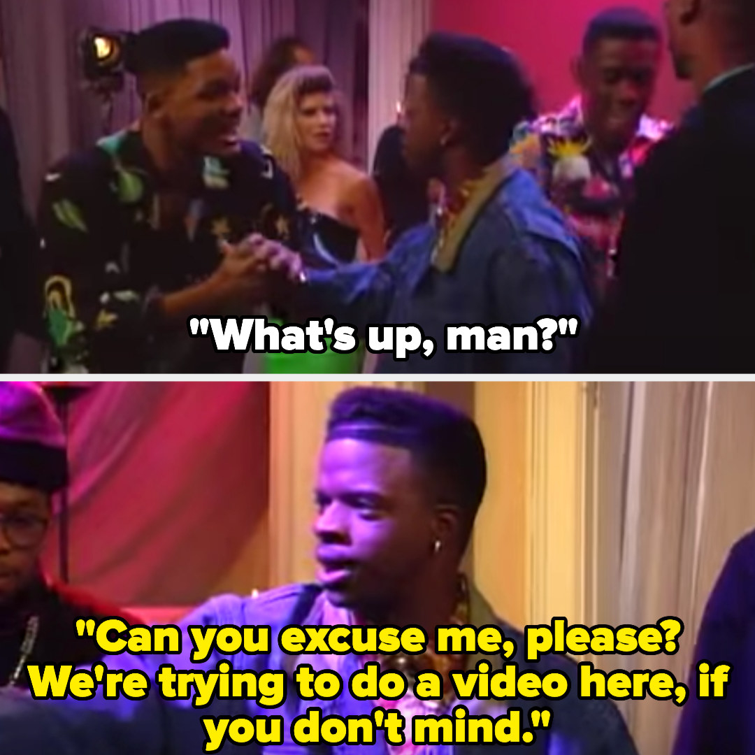 Will approaches Bell Biv DeVoe asking what's up but they say they're trying to do a video