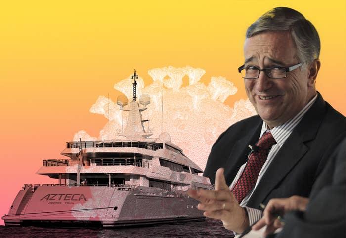 Ricardo Salinas Pliego and his yacht