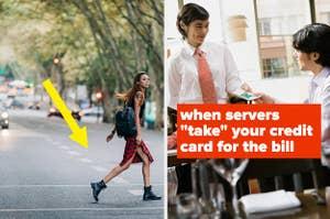 Jaywalking and servers