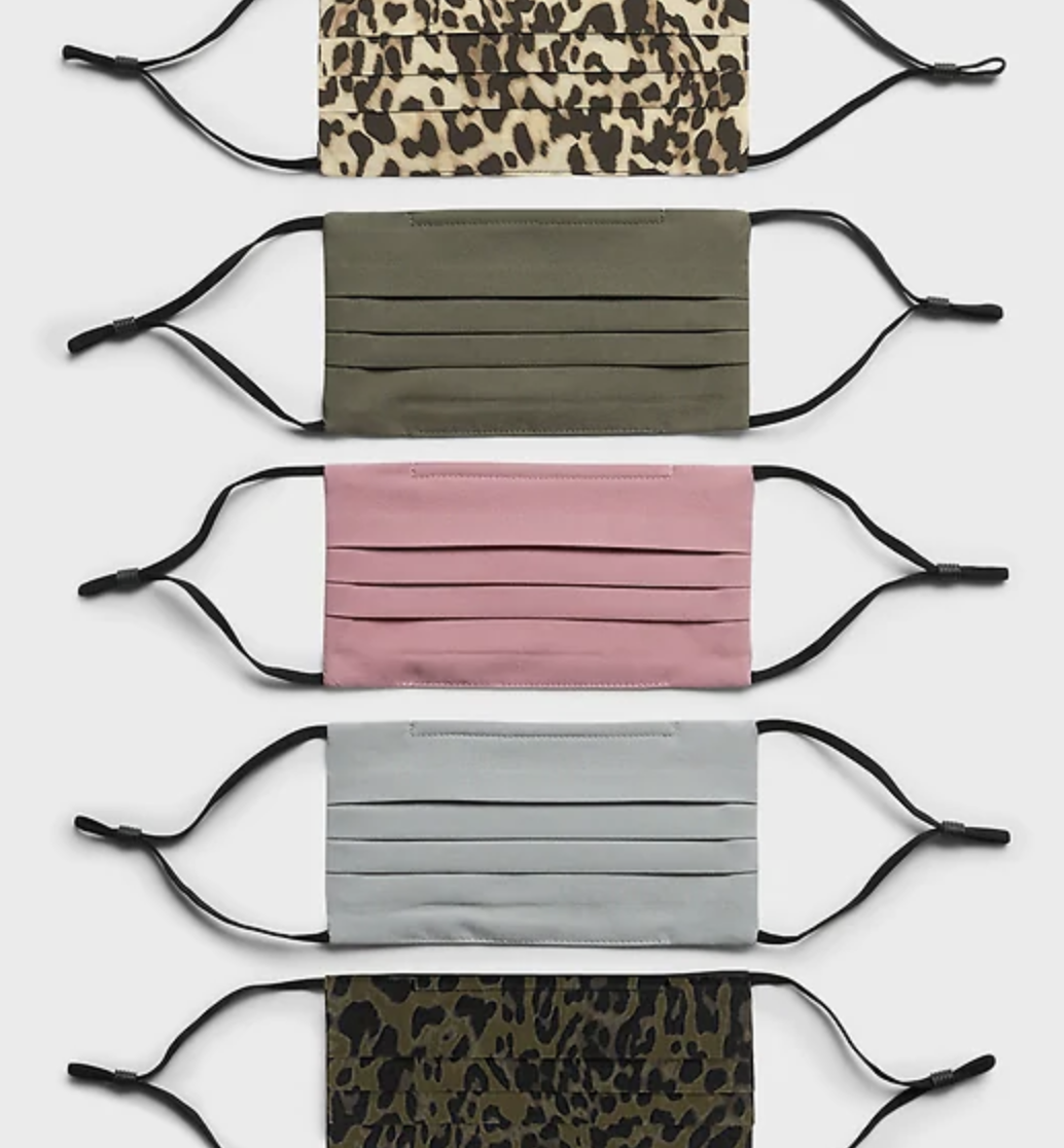 Face masks in solid and animal prints