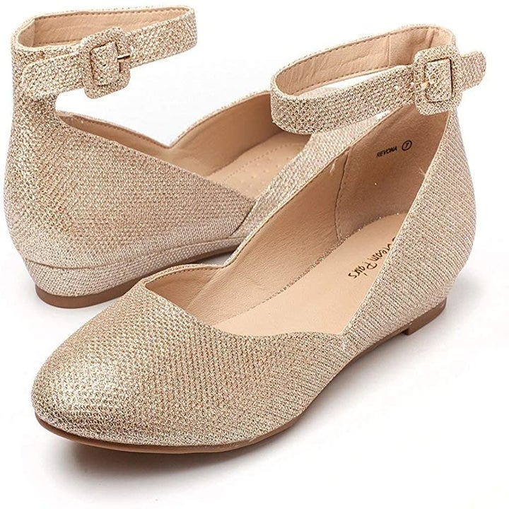 The almost-flat shoes in metallic gold