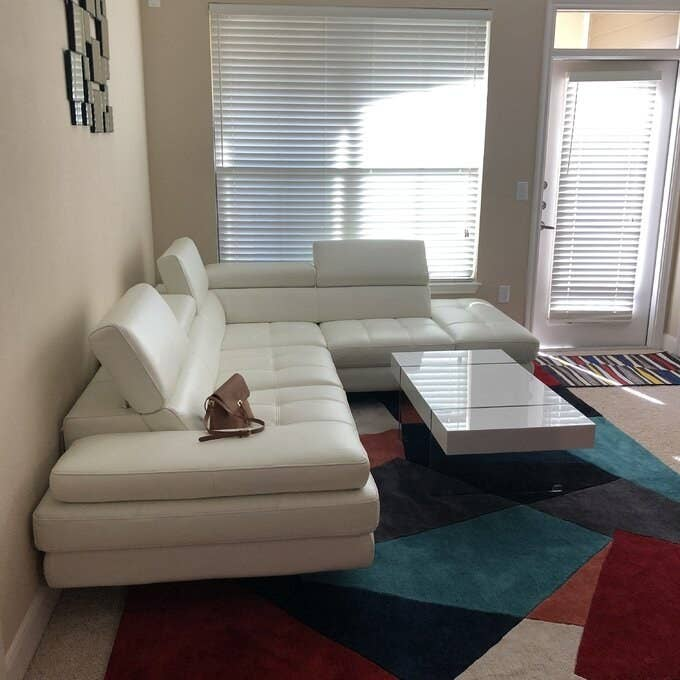 Review photo of the white sectional