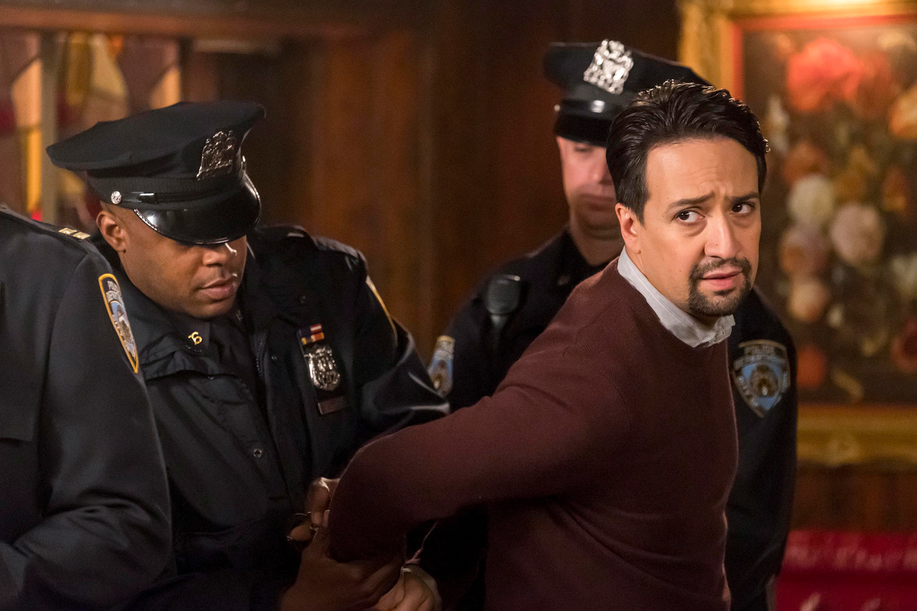 Lin-Manuel Miranda being arrested on the show