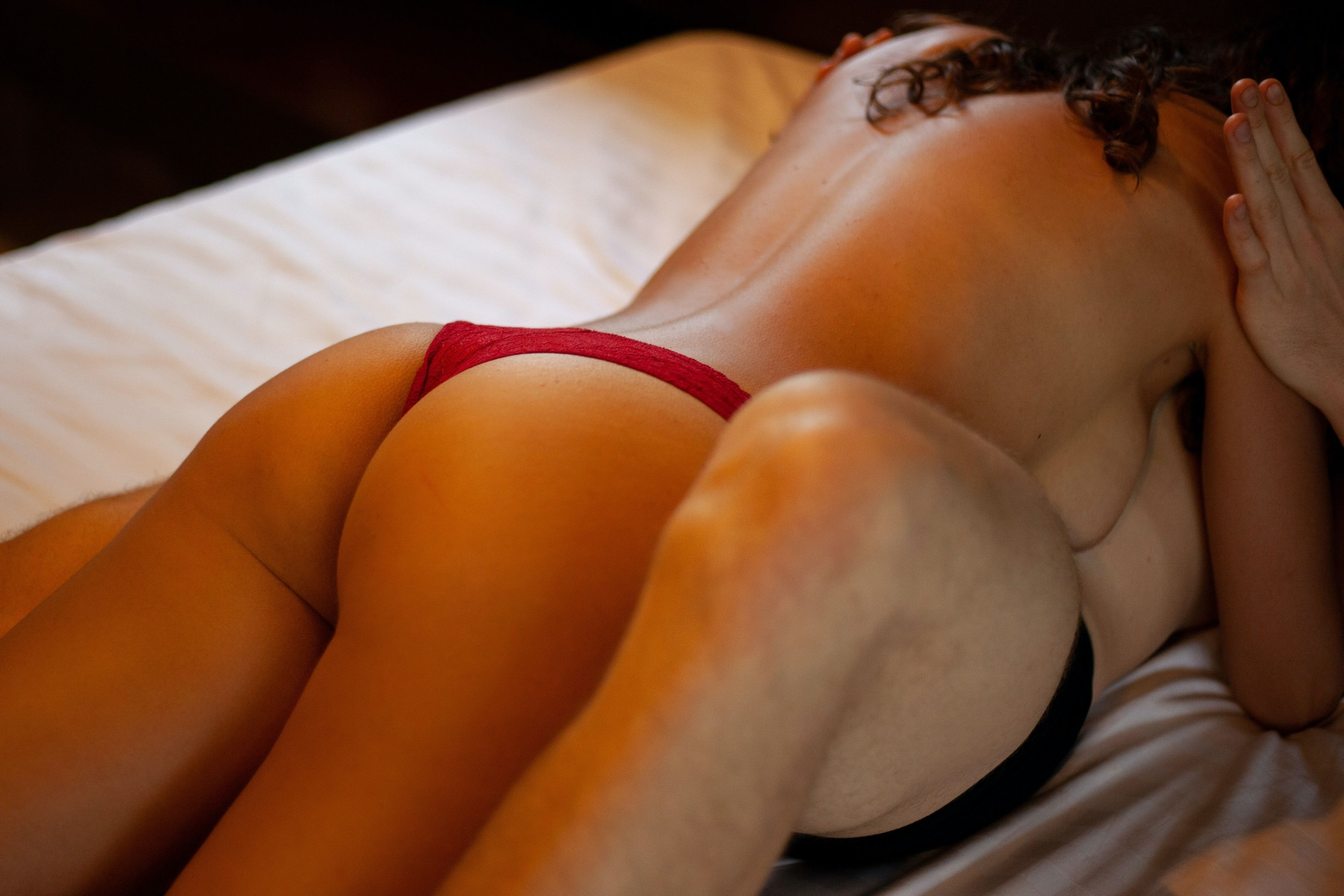 Sensual photo of a couple in the bedroom