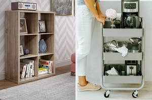 Storage shelf and rolling cart