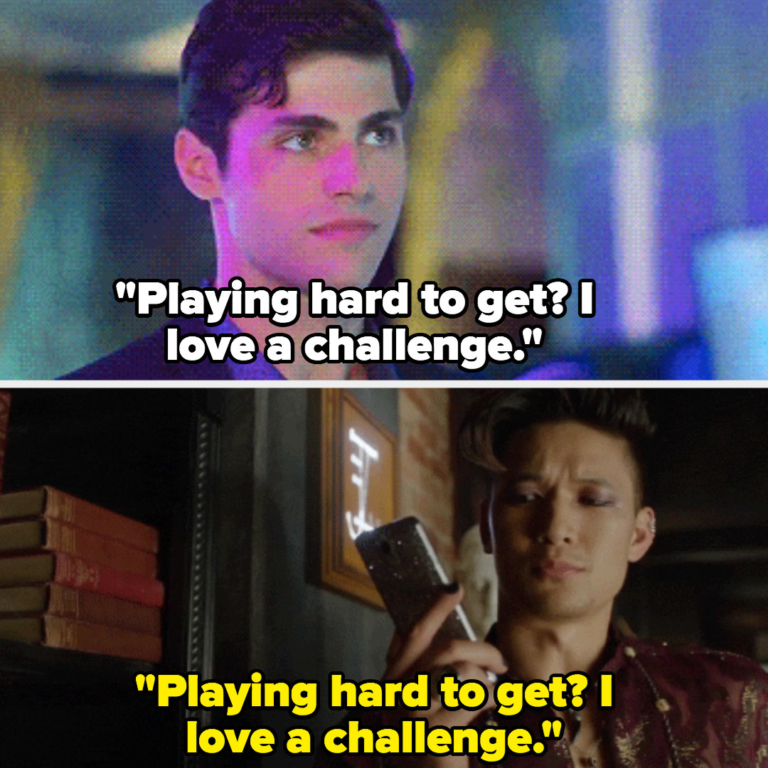 """""""Playing hard to get? I love a challenge"""""""