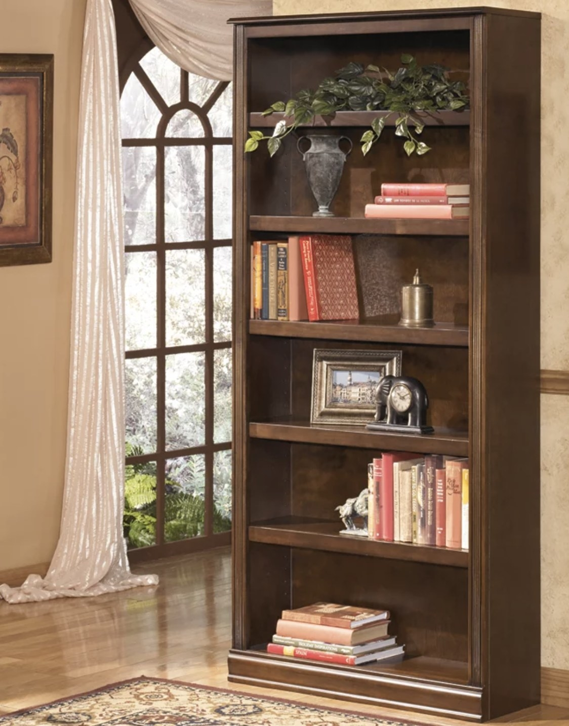 A wooden bookcase