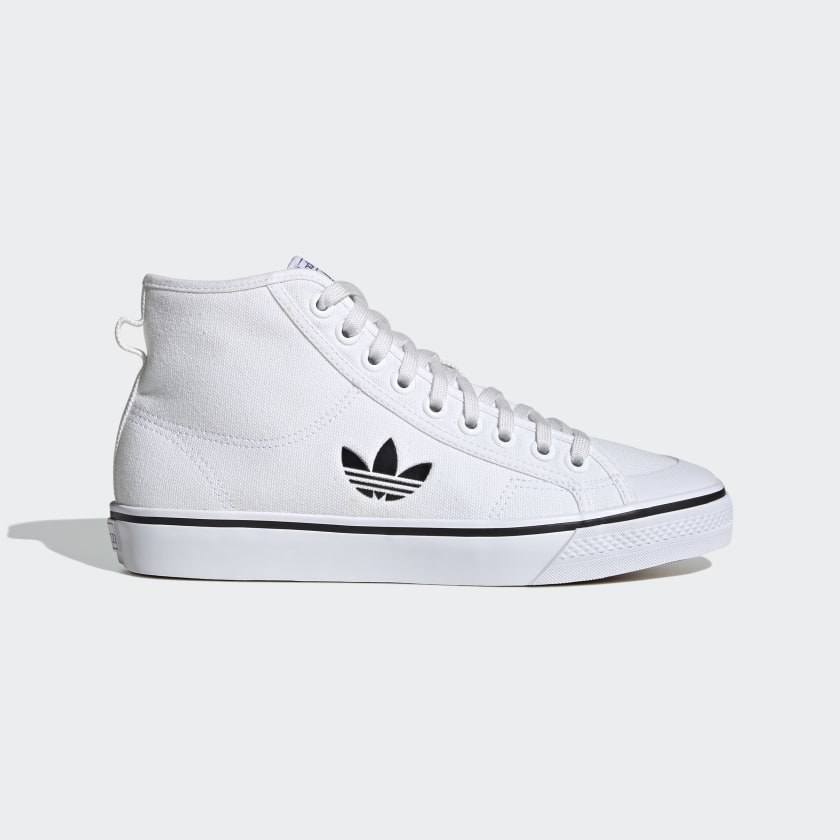 The high top white sneakers