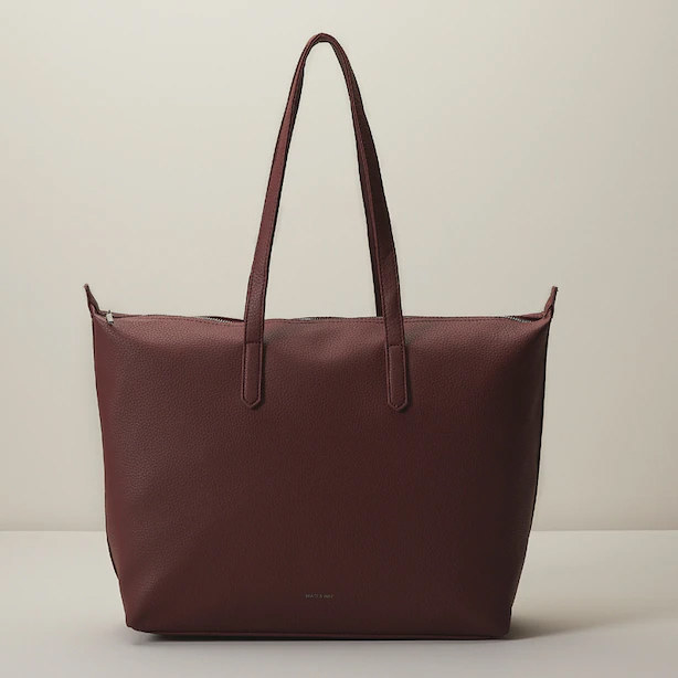 A large tote bag with long handles