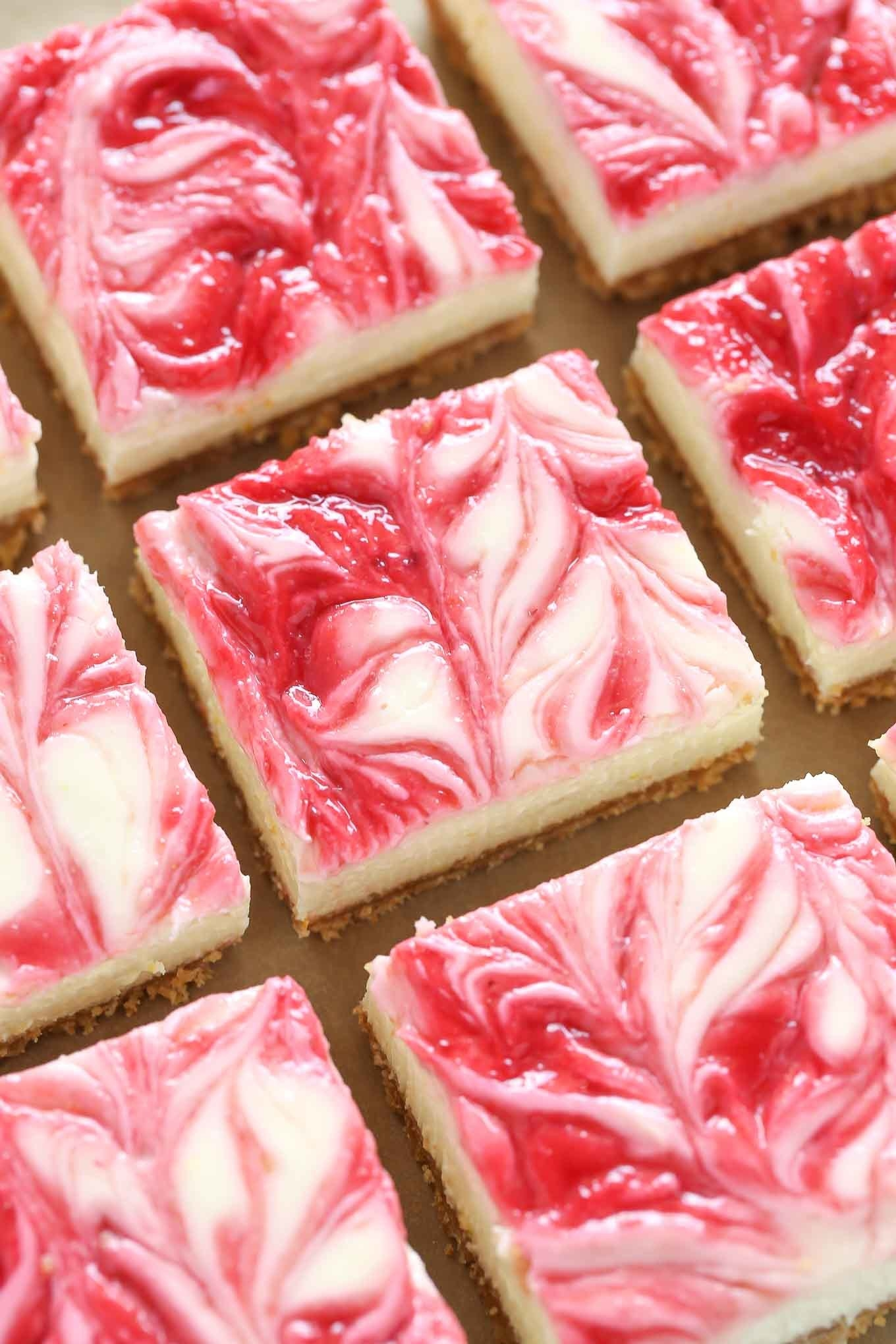Raspberry lemon cheesecake bars.